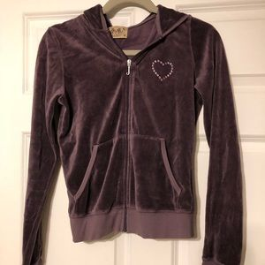 Other - Plum Juicy Couture Sweatshirt Zipup